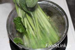 茹で 時間 小松菜